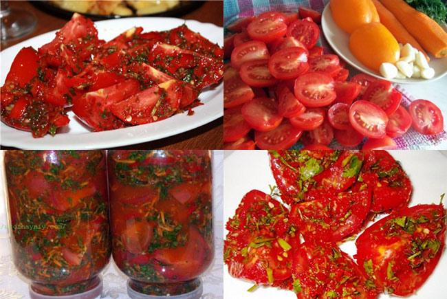помидоры по корейски на зиму с фото