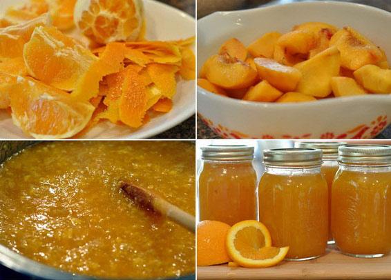 Рецепт варенья из персиков и апельсинов