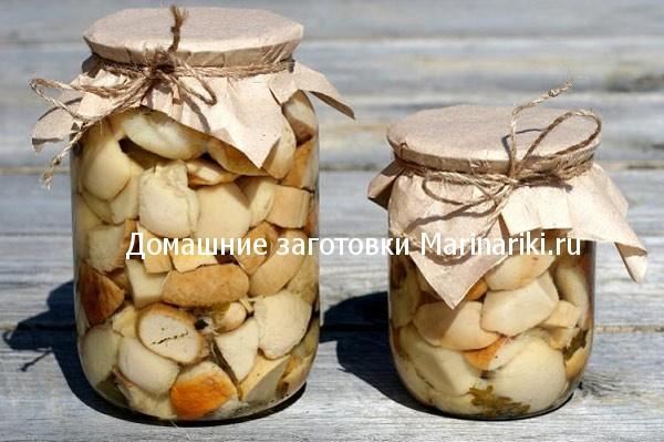 рецепт закатки белых грибов в банки