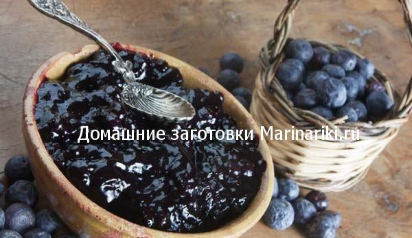 варенье из замороженной черники рецепт